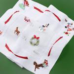 ハンカチーフ<br>〈手刺繍/アドベントカレンダー〉